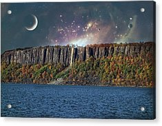 God's Space Over Planet Earth Acrylic Print