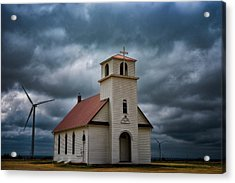 God's Storm Acrylic Print by Darren White