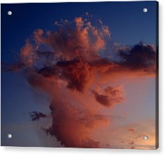 Godzilla Cloud-debbie-may Acrylic Print by Debbie May