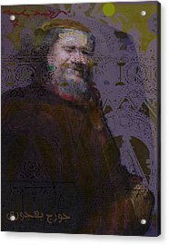 Goerge Bahgory Acrylic Print by Noredin Morgan