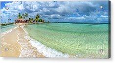 Goff's Caye Belize Pano Acrylic Print