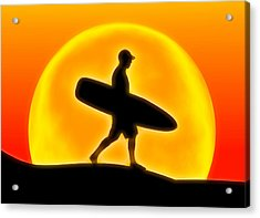 Goin' For A Surf Acrylic Print by Andreas Thust
