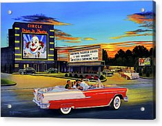 Goin' Steady - The Circle Drive-in Theatre Acrylic Print