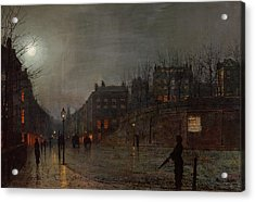 Going Home At Dusk Acrylic Print by John Atkinson Grimshaw