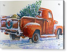 Going Home Forchristmas Acrylic Print by Bob  Adams