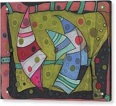 Going In Circles Acrylic Print by Sandra Church