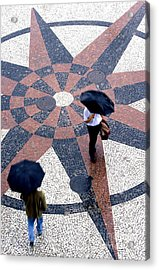 Going North Going South - Umbrellas Series 1 Acrylic Print by Carlos Alvim