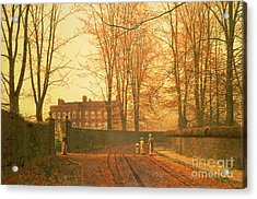 Going To Church Acrylic Print by John Atkinson Grimshaw