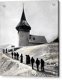 Going To Church On Christmas Morning Acrylic Print by Swiss School