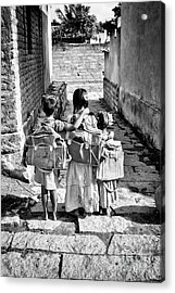 Going To School Acrylic Print by Tim Gainey