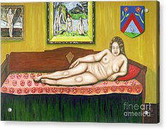 Gok With Munch And Cezanne Acrylic Print by Neil Trapp