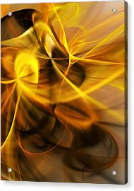 Gold And Shadows Acrylic Print