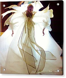 Gold And White Angel Acrylic Print