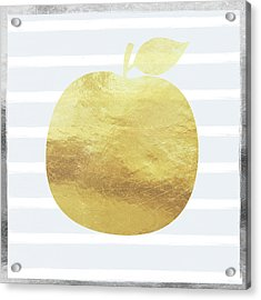 Gold Apple- Art By Linda Woods Acrylic Print