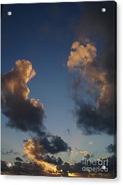 Gold Clouds  Acrylic Print by Chad Natti
