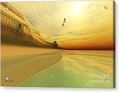Gold Coast Acrylic Print by Corey Ford