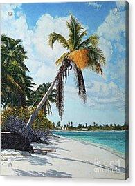 Gold Coconut Acrylic Print