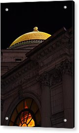 Acrylic Print featuring the photograph Gold Dome At Night by Don Nieman