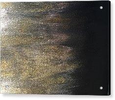Gold Dusty Night Acrylic Print