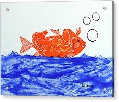 Gold Fish Acrylic Print