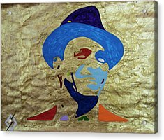 Smiling Gold Sinatra  Acrylic Print