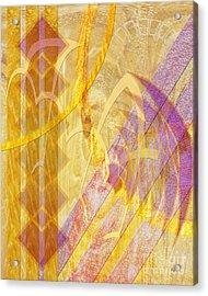 Gold Fusion Acrylic Print by John Beck