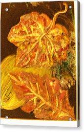 Gold Gold Gold Acrylic Print by Anne-Elizabeth Whiteway
