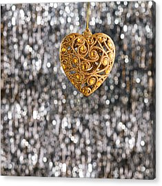 Acrylic Print featuring the photograph Gold Heart  by Ulrich Schade