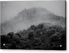 Gold Hill Winter Scene Acrylic Print by Mick Anderson