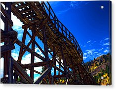 Gold In Them That Hills Acrylic Print by Mike Flynn