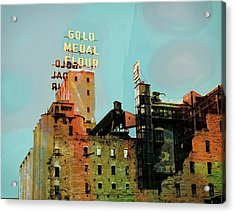 Acrylic Print featuring the photograph Gold Medal Flour Pop Art by Susan Stone