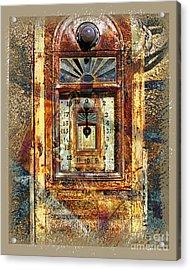 Gold Mine Gas Pump Acrylic Print by Chuck Brittenham