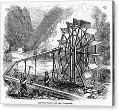 Gold Mining, 1860 Acrylic Print by Granger