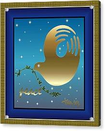 Gold Peace Dove Acrylic Print