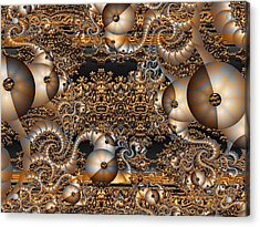 Acrylic Print featuring the digital art Gold Rush by Robert Orinski