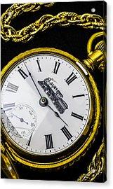 Gold Train Watch Acrylic Print by Garry Gay