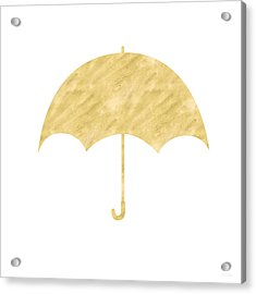 Gold Umbrella- Art By Linda Woods Acrylic Print