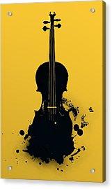 Gold Violin Acrylic Print
