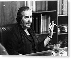 Golda Meir (1898-1978) Acrylic Print by Granger