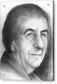 Golda Meir Acrylic Print by Greg Joens