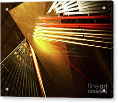 Golden Abstract Acrylic Print