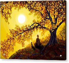 Golden Afternoon Meditation Acrylic Print