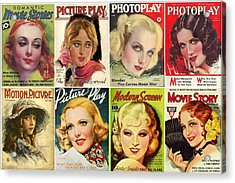 Golden Age Of Movies Magazine Covers Acrylic Print by Don Struke