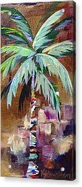 Golden Amethyst Palm Acrylic Print