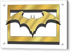 Golden Bat Acrylic Print
