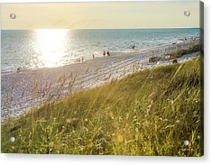 Golden Beach Afternoon Acrylic Print