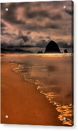 Golden Beach Acrylic Print by David Patterson