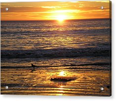 Golden Beach Acrylic Print by J Perez