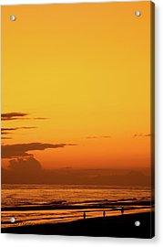 Golden Beach Sunset Acrylic Print