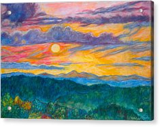Golden Blue Ridge Sunset Acrylic Print